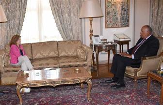 وزير الخارجية يناقش التطورات على الساحة الليبية مع الممثلة الخاصة للأمين العام في ليبيا
