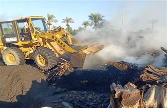 إزالة 4 مكامير فحم مخالفة في قريتي الرياض والبساتين بدمياط