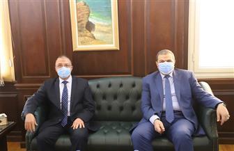 محافظ الإسكندرية يستقبل وزير القوى العاملة لتفقد منظومة التحول الرقمي | صور
