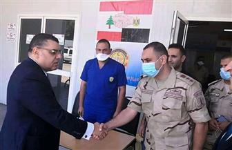 سفير مصر ببيروت يتفقد المستشفى الميداني المصري لمتابعة استقبال مصابي الانفجار