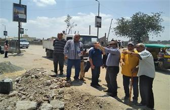 رئيس مدينة المحلة الكبرى يتابع أعمال تطوير كورنيش بحر شبين والرصف   صور