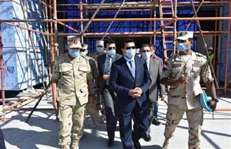 وزير الرياضة يطمئن على معدلات إنجاز إنشاء الصالة المغطاة ببرج العرب | صور
