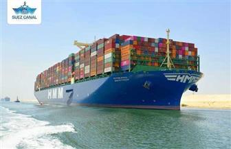 """قناة السويس الجديدة تستقبل سفينة الحاويات العملاقة """"HMM ROTTERDAM"""" في أولى رحلاتها البحرية"""