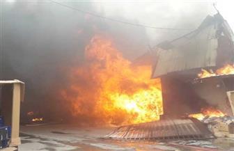 اندلاع حريق كبير في سوق بإمارة عجمان بالإمارات