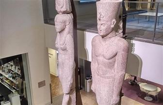 عودة تمثالين ملكيين إلى مصر لعرضهما بالمتحف المصري الكبير | صور