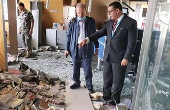 """سفير مصر ببيروت يزور مقر جريدة النهار المنكوب.. مؤكدا: """"لبنان في خاطرنا"""""""