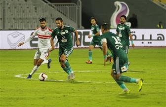الشوط الأول من مباراة الزمالك والمصري: تعادل سلبي وهجمات خاطفة بين الفريقين