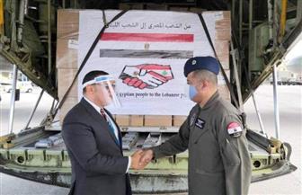 الطائرة الثانية من الجسر الجوي الإغاثي المصري تصل بيروت
