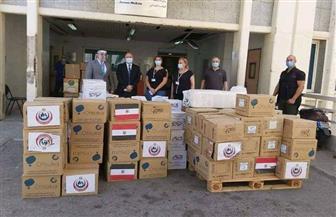 سفير مصر ببيروت يسلم مستشفى رفيق الحريري طنا ونصف من المساعدات الطبية | صور