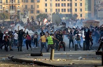 متحدث باسم الشرطة: وفاة شرطي لبناني خلال اشتباكات مع المتظاهرين بوسط بيروت