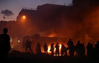 شهود: اندلاع حريق في ساحة بيروت وسط احتجاجات على انفجار الميناء
