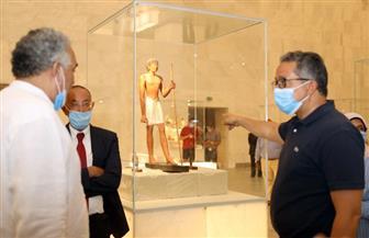 العناني يتفقد المتحف القومي للحضارة المصرية للوقوف على آخر مستجدات الأعمال به |صور
