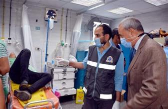 محافظ القليوبية يزور مصابي حادث بنها بالمستشفى الجامعي | صور