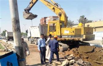 محافظ أسوان يوجه بإصلاح كسر فى خط رئيسى لمياه الشرب بمدينة دراو