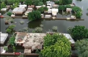 صور جوية لحجم الدمار وغرق مدن بأكملها جراء الفيضانات في السودان  فيديو