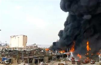 اندلاع حريق جديد داخل مرفأ بيروت   فيديو