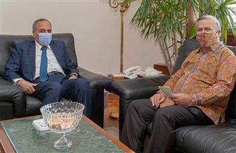 السفير الإندونيسي خلال لقائه سلامة بالأهرام: شربت كثيرا من مياه النيل وسوف أعود للقاهرة