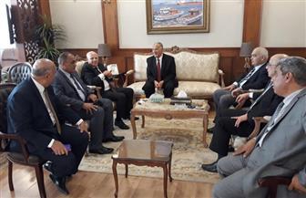 محافظ بورسعيد يستقبل رئيس هيئة قضايا الدولة |صور