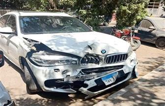 تهشم سيارتين.. شاهد حادث سيارة صالح جمعة | صور