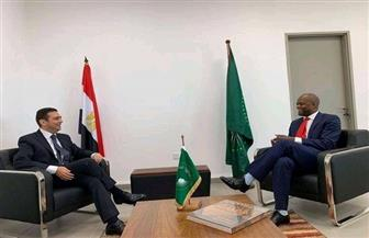 سفير مصر في غانا يلتقي سكرتير عـام منطقة التجارة الحرة القارية الإفريقية صور