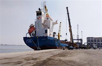 27 سفينة إجمالى حركة سفن الحاويات والبضائع العامة بموانئ بورسعيد