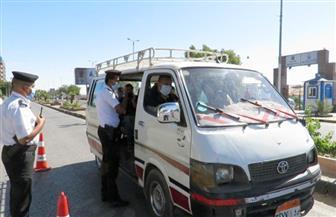 تحرير مخالفات ل 5049 سائق نقل جماعي لعدم ارتداء الكمامة و298 مخالفة محلات لقرار الغلق