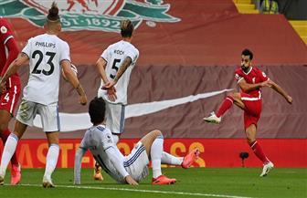صلاح يحافظ على تقدم ليفربول في شوط أول مثير أمام ليدز يونايتد