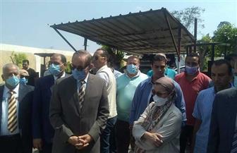 محافظ كفر الشيخ ووزيرة البيئة يتابعان أعمال قياس عوادم السيارات بكمين القرضا | صور