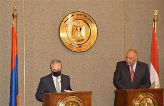 سامح شكري: مصر تعتز بالرباط التاريخي القوي مع أرمينيا.. والرؤى المشتركة تعزز العلاقات
