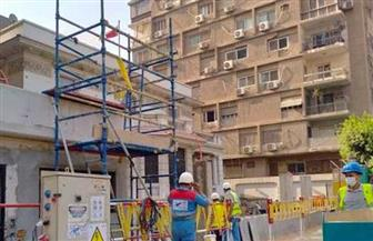 بعد تعرضها لهبوط أرضي بسبب أعمال المترو.. سكان عمارة الشربتلي يعودون لمساكنهم