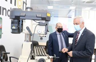 رئيس جامعة المنوفية يتفقد التجهيزات النهائية لمعهد تكنولوجيا المعلومات | صور