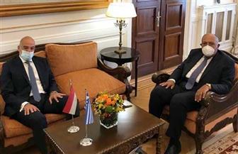 وزير خارجية اليونان يستقبل سامح شكرى فى مستهل زيارته لأثينا|صور