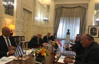 بدء جلسة مباحثات ثنائية موسعة بين مصر واليونان فى أثينا | صور