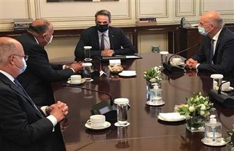  سامح شكرى يلتقى رئيس وزراء اليونان فى ثالث محطات زيارته لأثينا