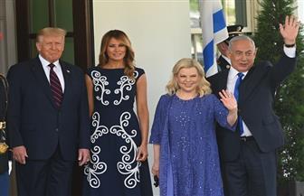 ترامب وزوجته يستقبلان نتانياهو وقرينته قبل مراسم توقيع معاهدة السلام التاريخية