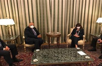 تفاصيل لقاء رئيسة جمهورية اليونان بوزير الخارجية سامح شكري خلال زيارته لأثينا