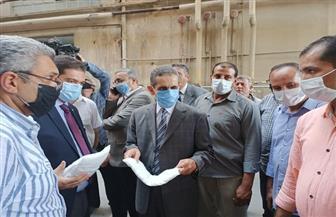 محافظ الغربية يتفقد أعمال تطوير مصانع وأقسام شركة غزل المحلة |صور