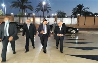 «الغضبان» يستقبل وزير الشباب والرياضة قبل افتتاح بطولة الشركات