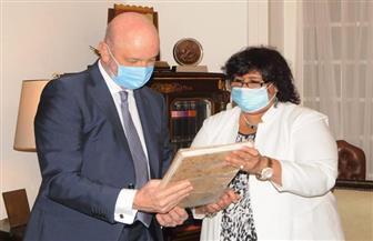 وزيرة الثقافة تبحث مع سفير إسبانيا بالقاهرة تعزيز التعاون الثقافي بين البلدين| صور