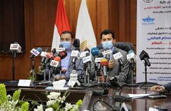 وزير الرياضة يعلن تفاصيل أكبر علامة سلام فوق سطح الماء بمشاركة 500 سباح| صور