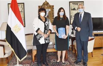 وزيرة الثقافة تستقبل حفيدة الرئيس العراقي الأسبق   صور