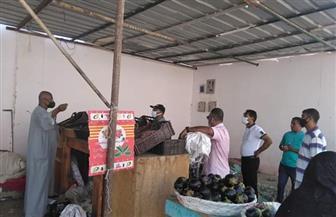 ضبط 37 مخالفة متنوعة خلال حملة تفتيشية على سوق الخضار بالقصير |صور