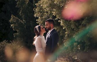 """محمد الشرنوبي يطرح """"قلبي ارتاح"""" بمشاركة زوجته راندا رياض  صور وفيديو"""