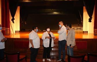 وزيرة الثقافة تتابع أعمال تطوير مسرح ليسيه الحرية بالإسكندرية | صور