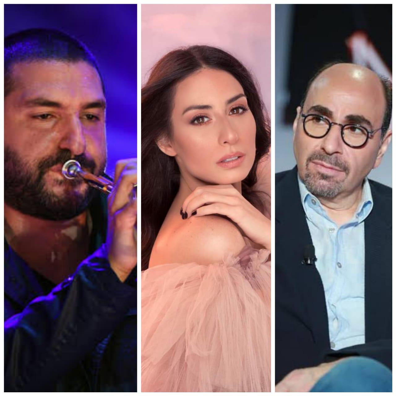 بالصور.. هبة طوجي ومجموعة من الموسقيين يجتمعون في حفل عالمي لدعم ضحايا بيروت