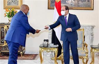 الرئيس السيسي يؤكد اعتزاز مصر بعلاقات التعاون المتميزة مع الكونغو الديمقراطية | صور