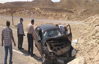 بينهم 3 أطفال.. إصابة 7 من أسرة واحدة في حادث تصادم سيارة ملاكي بحاجز ترابي بالقصير   صور