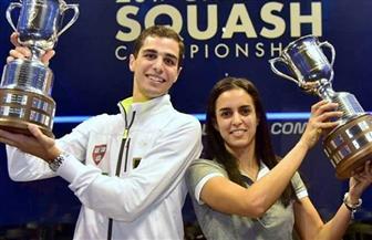 الزوجان المصريان علي فرج ونور الطيب يتأهلان لربع نهائي بطولة مانشستر المفتوحة للإسكواش