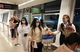 وصول أولى رحلات شركة إيزى جت البريطانية إلى مطار الغردقة الدولي | صور