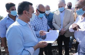 وزير النقل يتفقد محور شمال الأقصر |صور